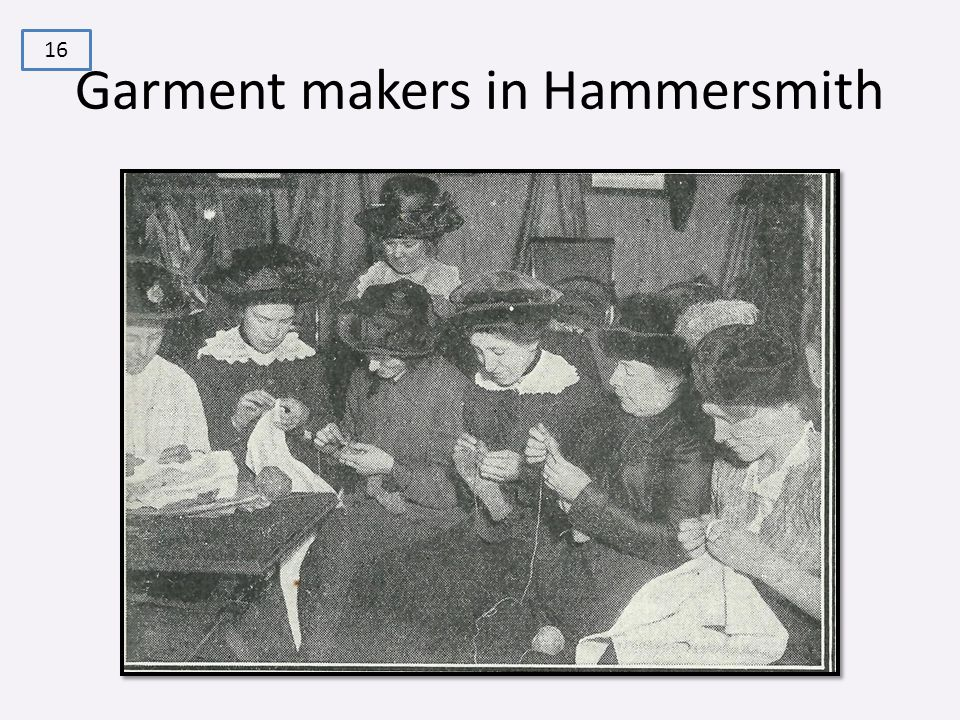 Garment makers in Hammersmith 16