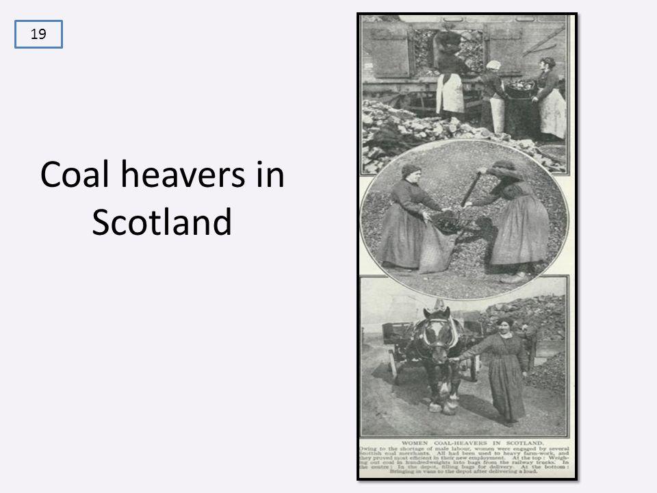 Coal heavers in Scotland 19