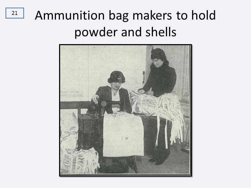 Ammunition bag makers to hold powder and shells 21