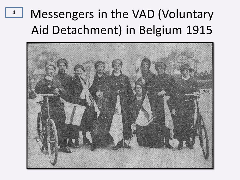 Messengers in the VAD (Voluntary Aid Detachment) in Belgium 1915 4