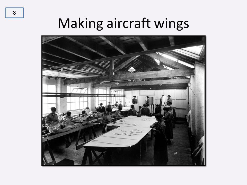 Making aircraft wings 8