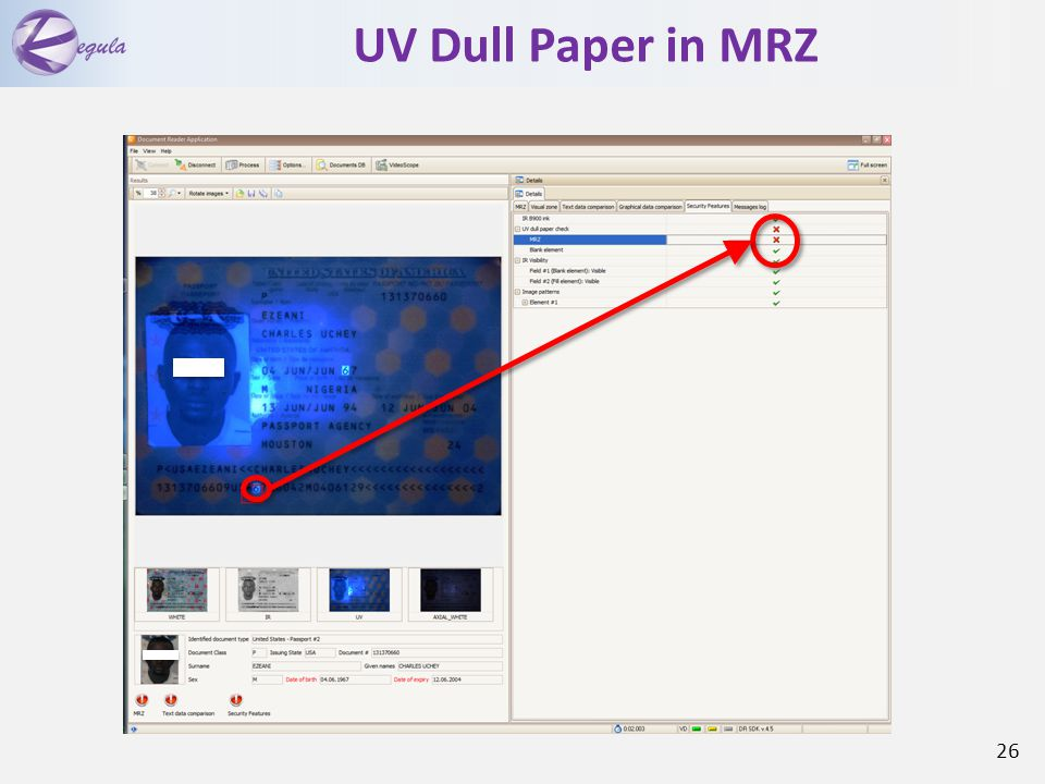 UV Dull Paper in MRZ 26