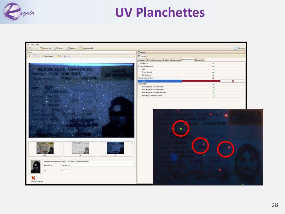 UV Planchettes 28
