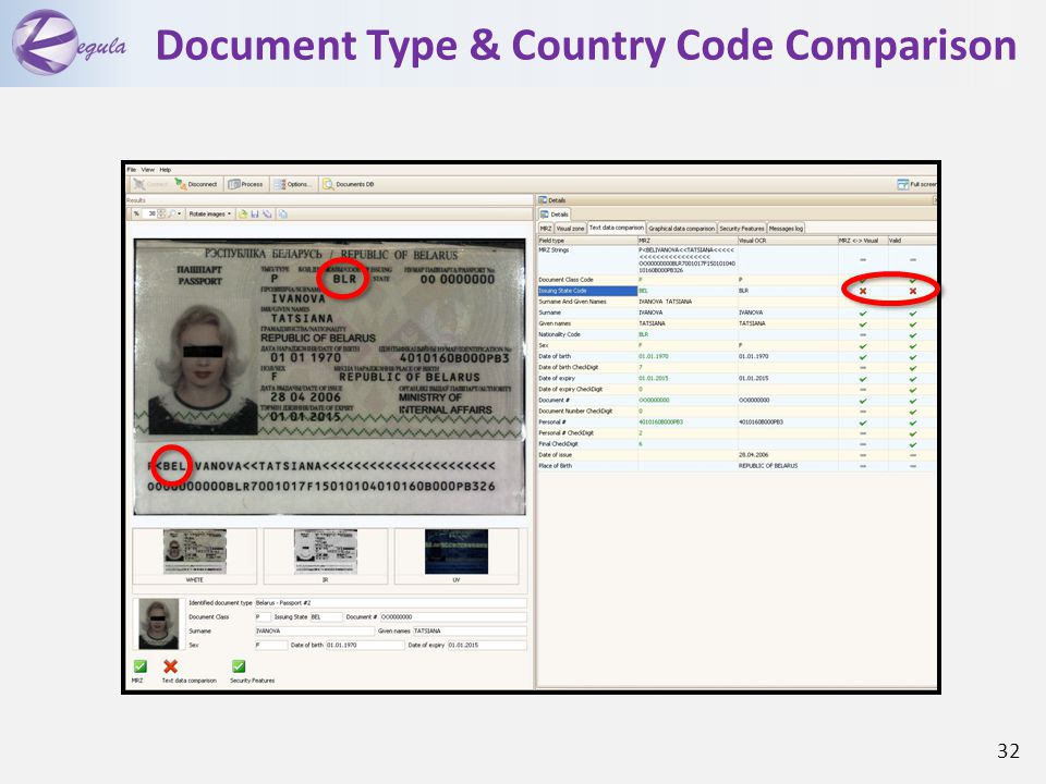 Document Type & Country Code Comparison 32