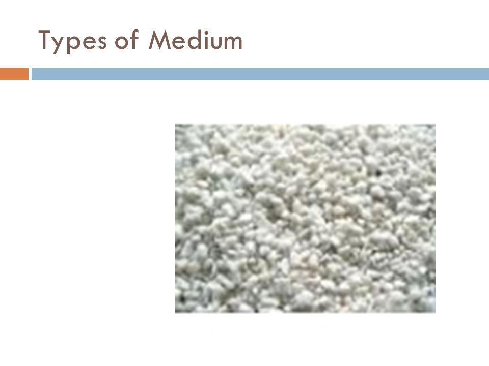 Types of Medium