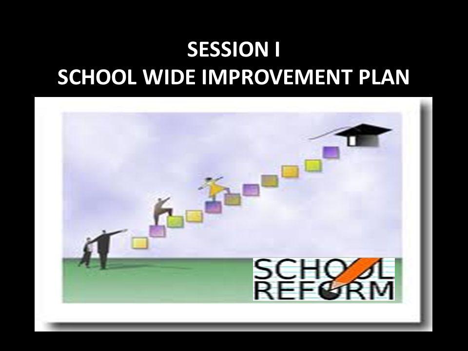 SESSION I SCHOOL WIDE IMPROVEMENT PLAN