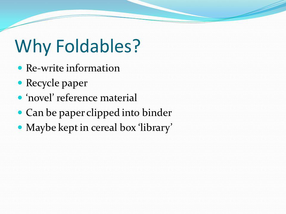 Why Foldables.