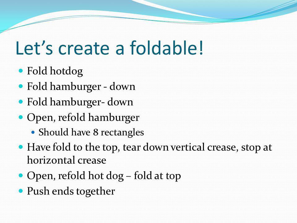 Lets create a foldable.