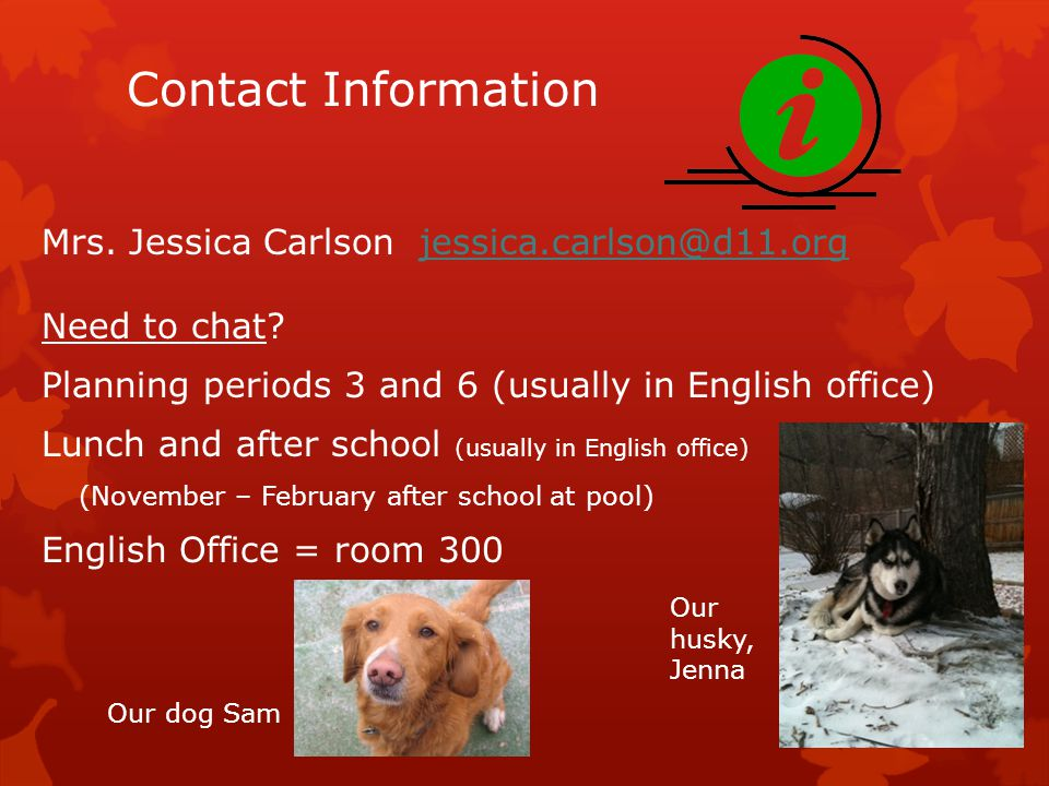 Contact Information Mrs.