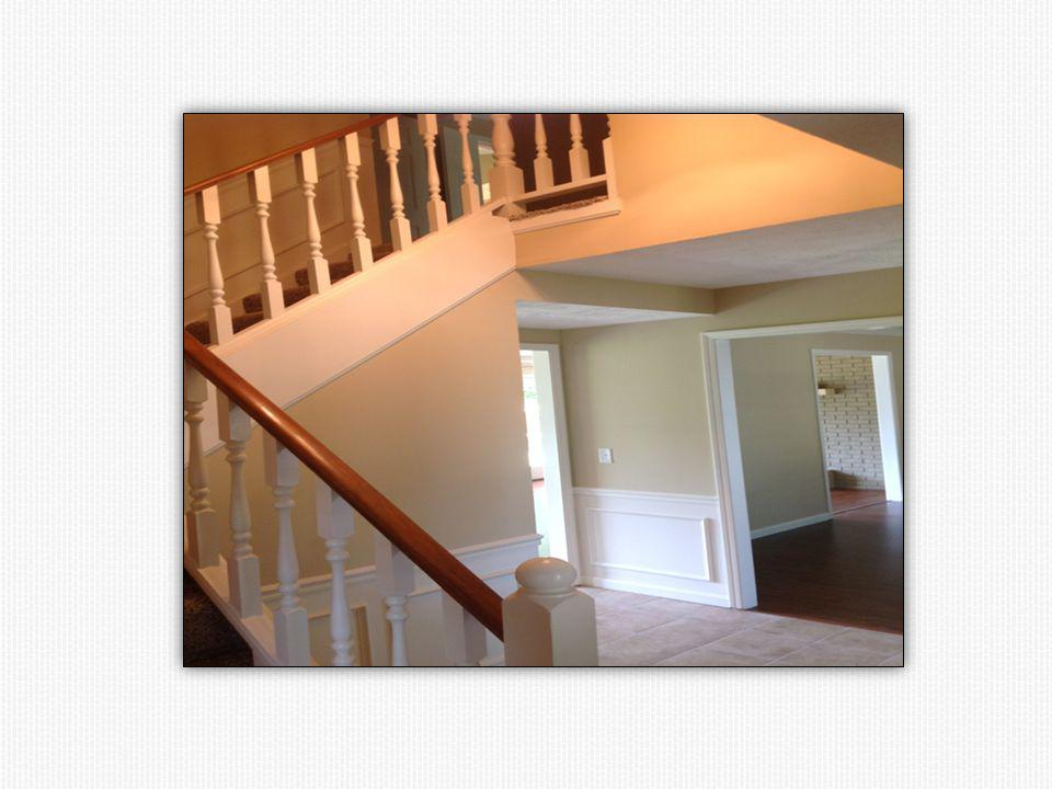 New carpeting, textured ceiling, lighting and paint.