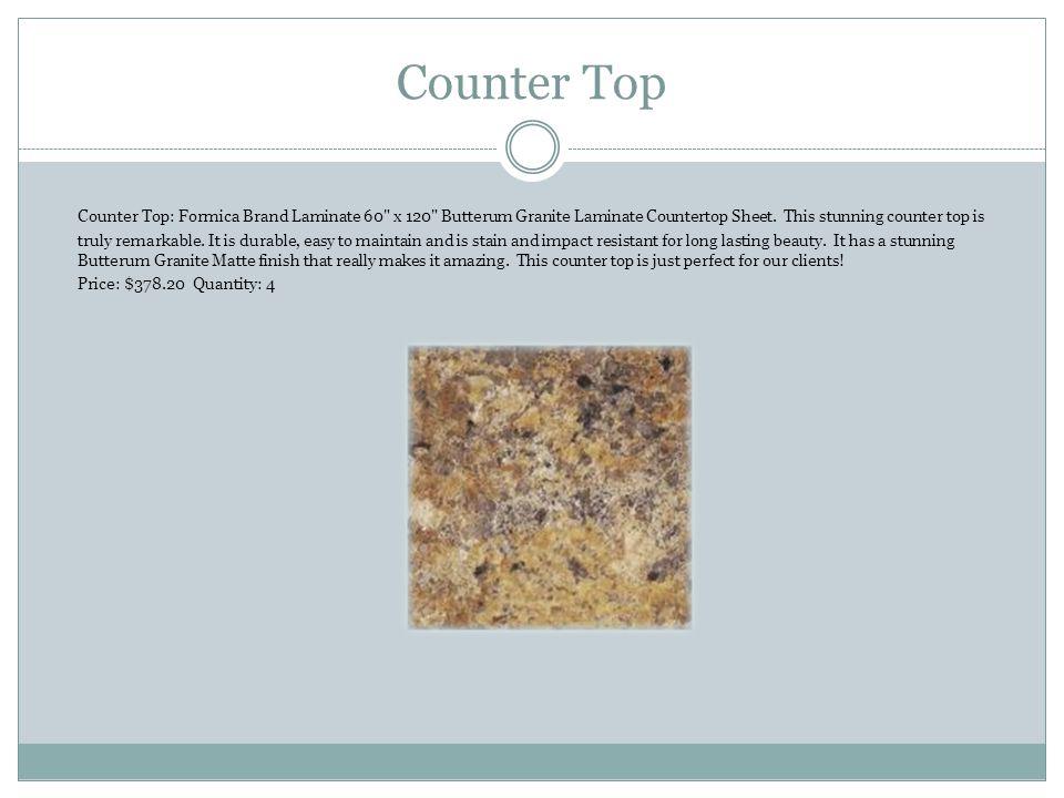Counter Top Counter Top: Formica Brand Laminate 60 x 120 Butterum Granite Laminate Countertop Sheet.