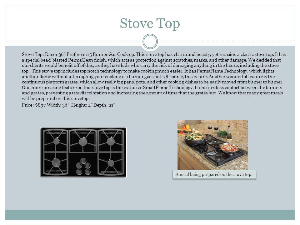 Stove Top Stove Top: Dacor 36 Preference 5 Burner Gas Cooktop.