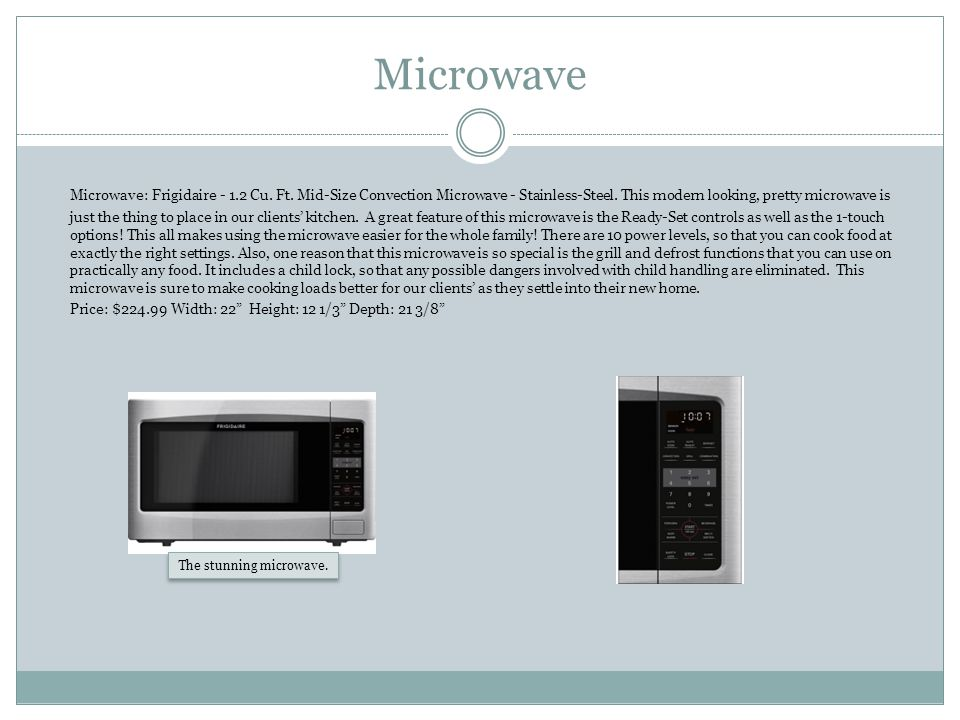 Microwave Microwave: Frigidaire - 1.2 Cu. Ft. Mid-Size Convection Microwave - Stainless-Steel.