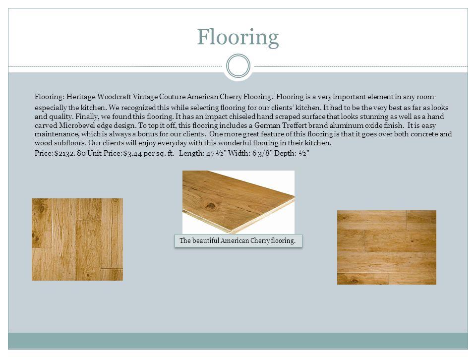 Flooring Flooring: Heritage Woodcraft Vintage Couture American Cherry Flooring.