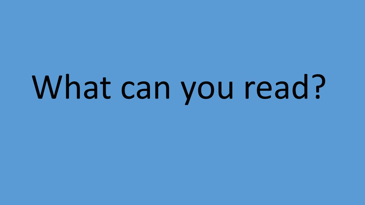 What can you read