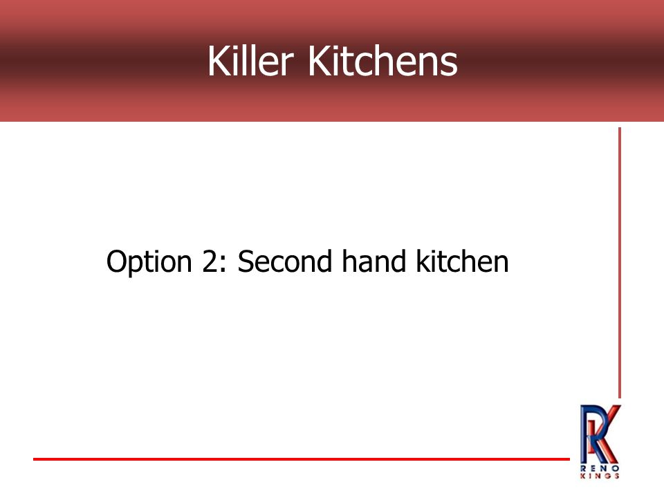 Killer Kitchens Option 2: Second hand kitchen
