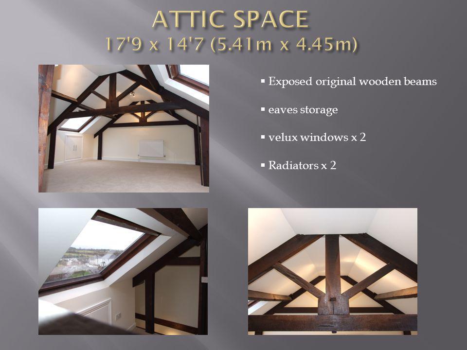 Exposed original wooden beams eaves storage velux windows x 2 Radiators x 2