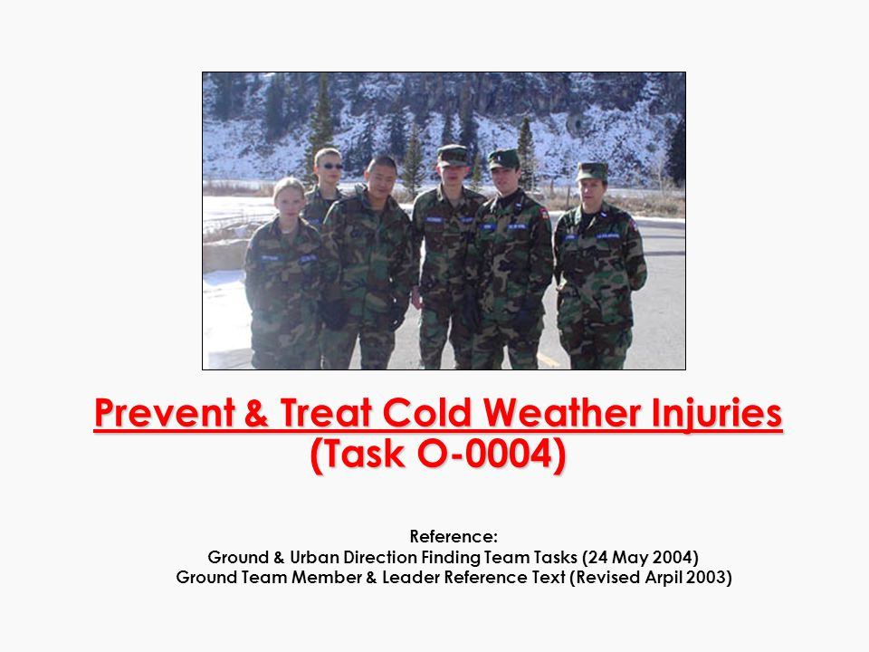 Early Stage Hypothermia Symptoms Uncontrollable shivering Numbness Treatment Keep the patient warm and dry Remove wet clothing Warm the central body before the extremities to keep blood from flowing away from the major organs.