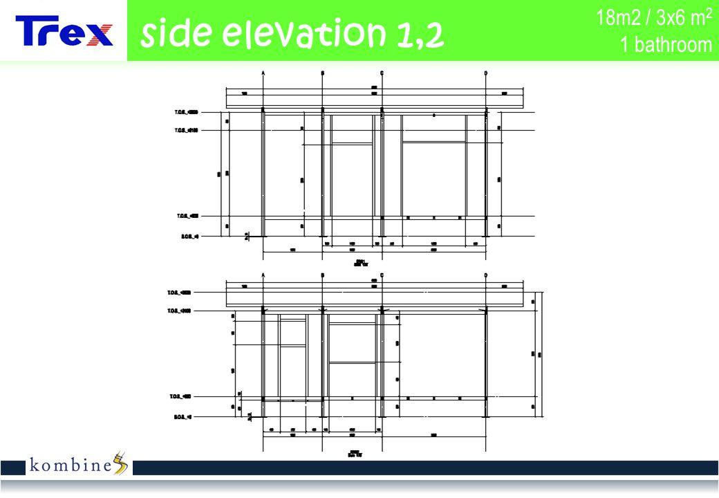 18m2 / 3x6 m 2 1 bathroom