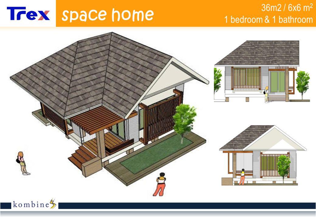 36m2 / 6x6 m 2 1 bedroom & 1 bathroom