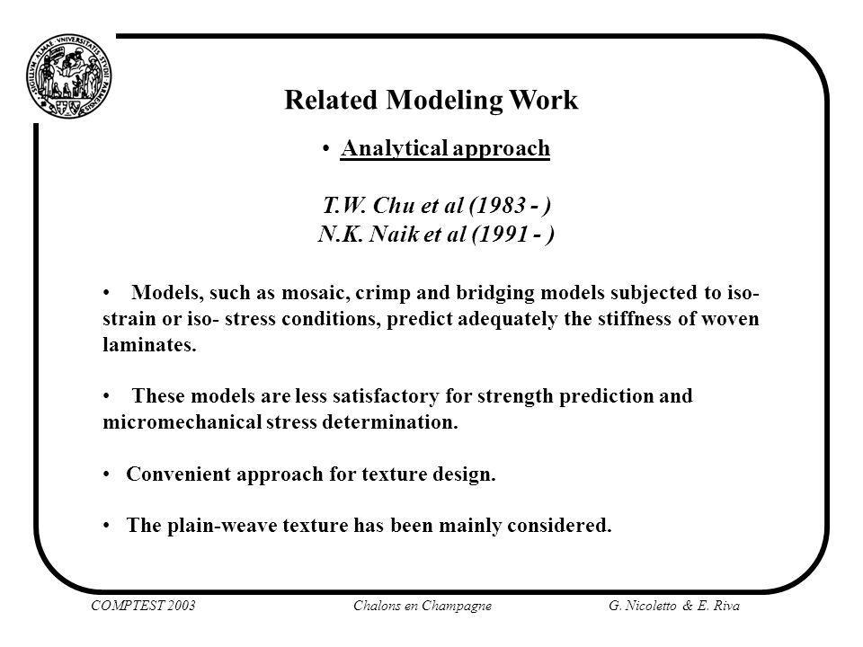 Finite element approach J.Whitcomb et al. (1990-1998) V.