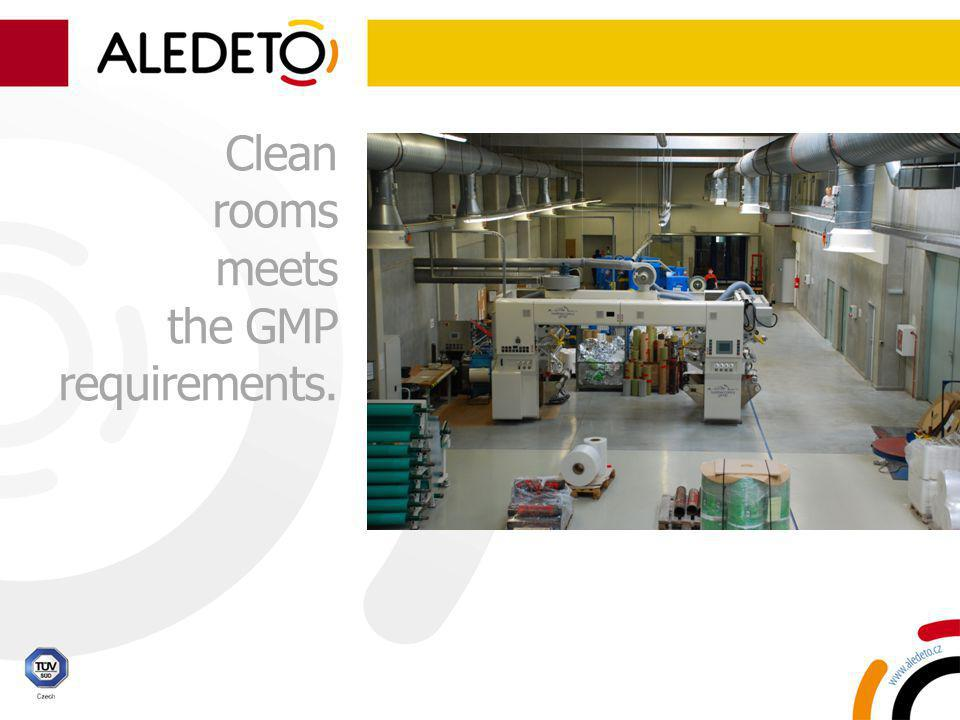 Clean rooms meets the GMP requirements.