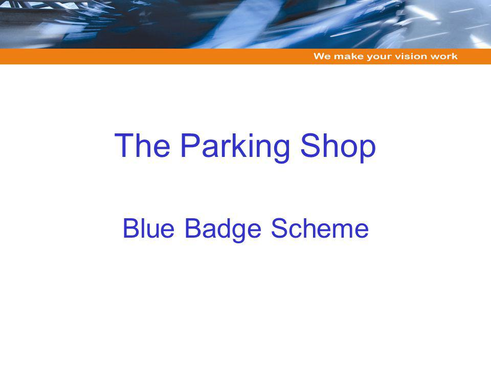 The Parking Shop Blue Badge Scheme