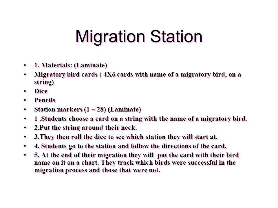 Migration Station 1.