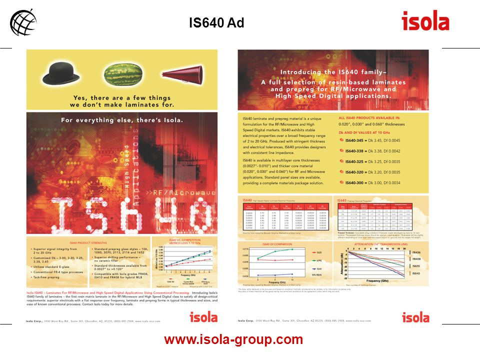 www.isola-group.com IS640 Ad