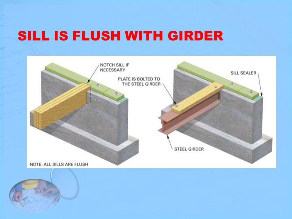 SILL IS FLUSH WITH GIRDER
