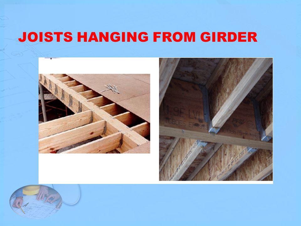 JOISTS HANGING FROM GIRDER