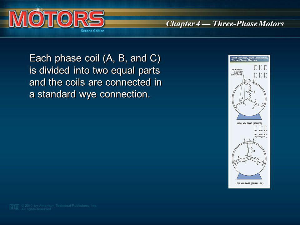 Chapter 4 Three-Phase Motors As the current changes, the stator poles move to follow the strongest current.