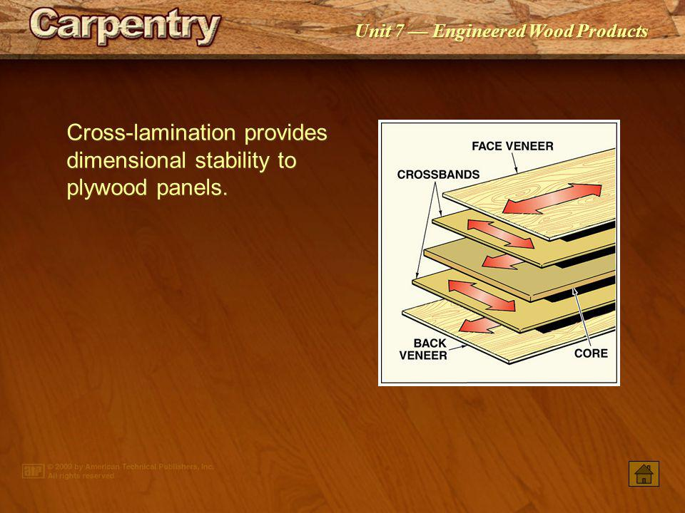 Unit 7 Engineered Wood Products Strength and stiffness properties are affected by wood species.
