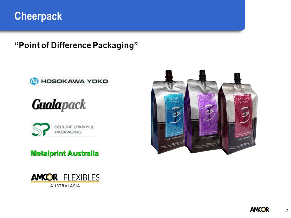 2 Cheerpack Point of Difference Packaging