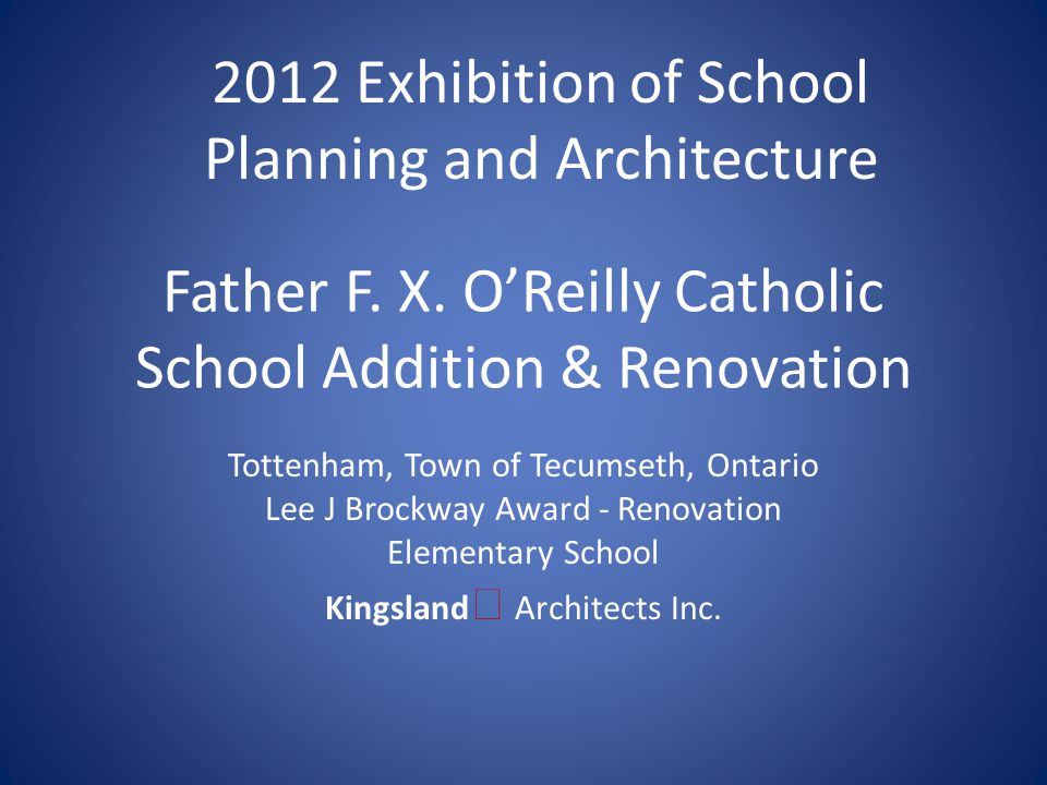Submitting Firm : Kingsland Architects Inc.