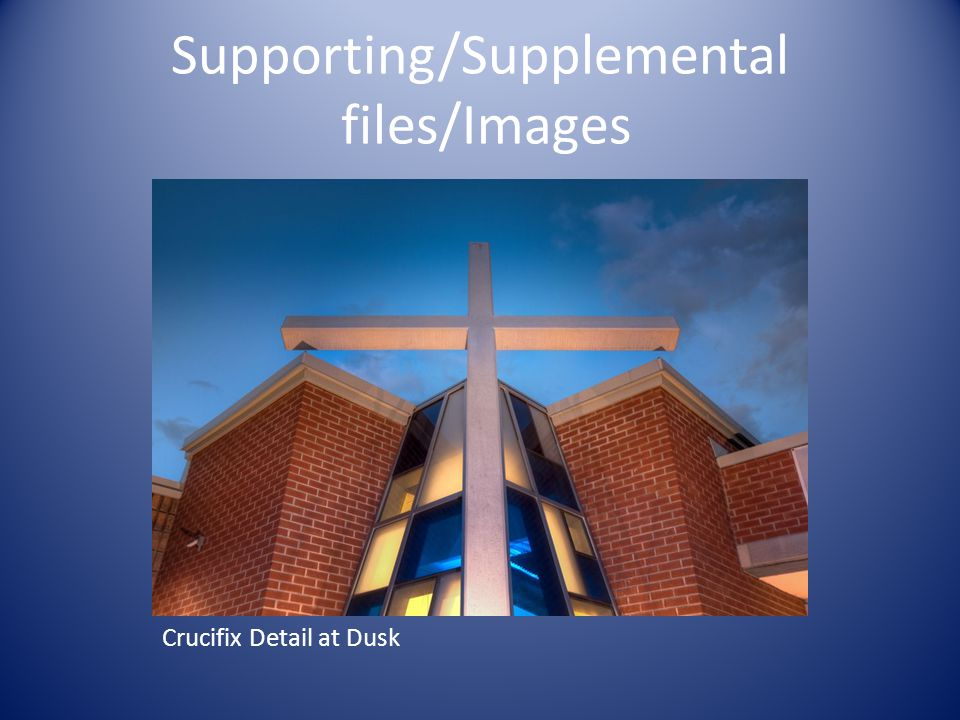 Supporting/Supplemental files/Images Crucifix Detail at Dusk