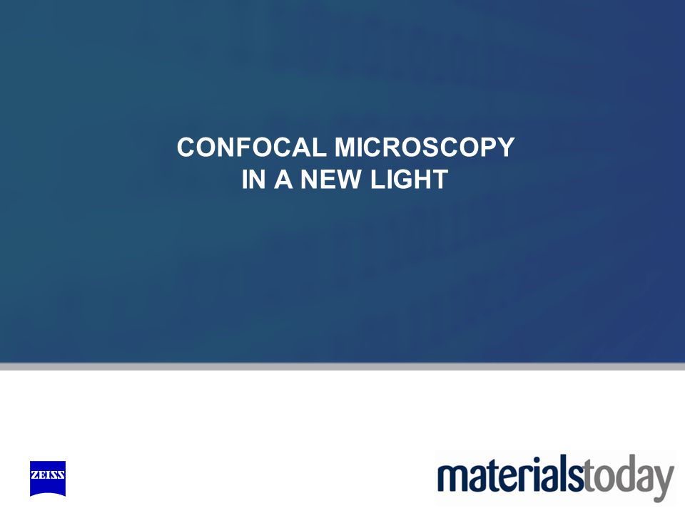 CONFOCAL MICROSCOPY IN A NEW LIGHT