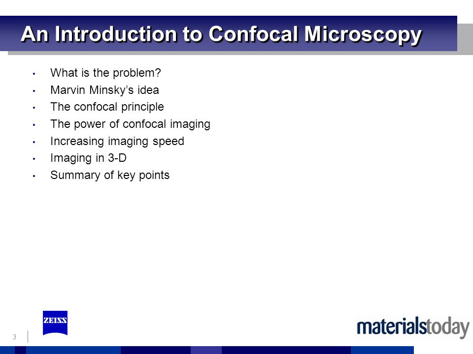 3 An Introduction to Confocal Microscopy What is the problem.