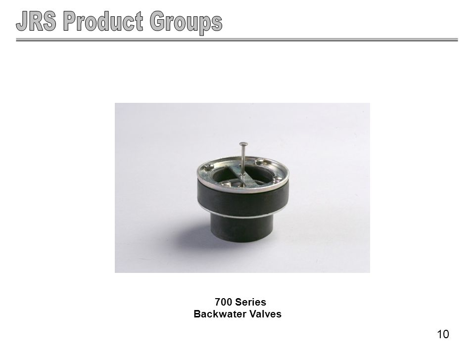 700 Series Backwater Valves 10