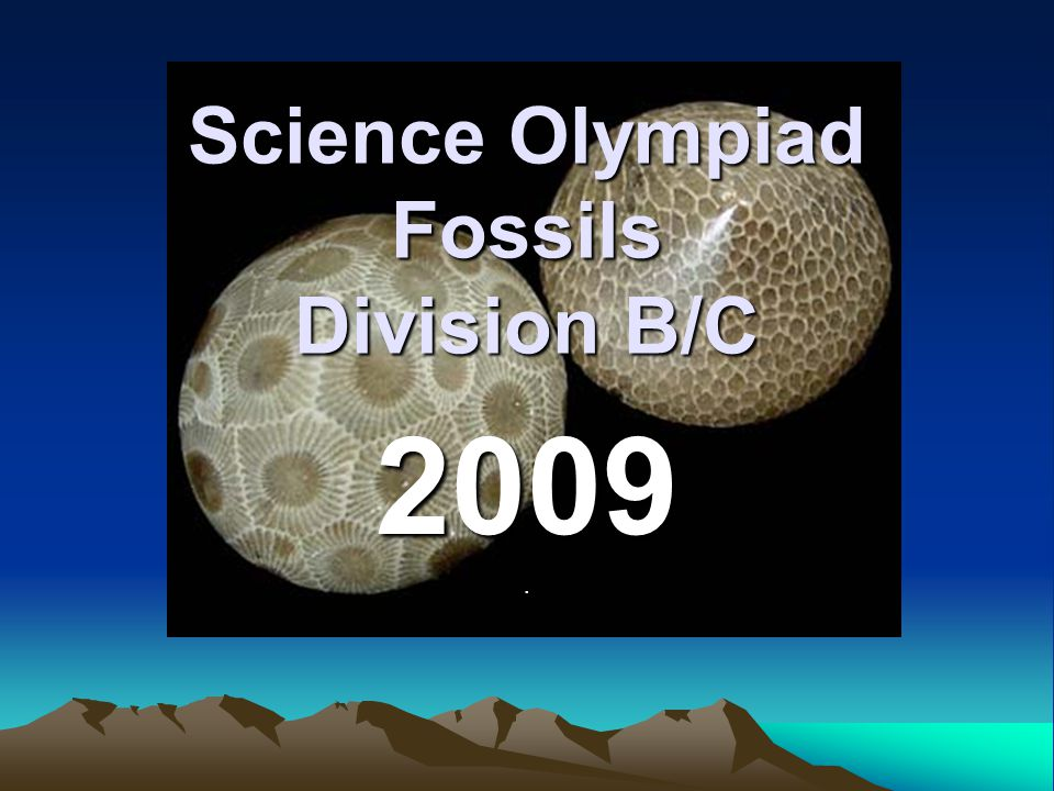 Science Olympiad Fossils Division B/C 2009.