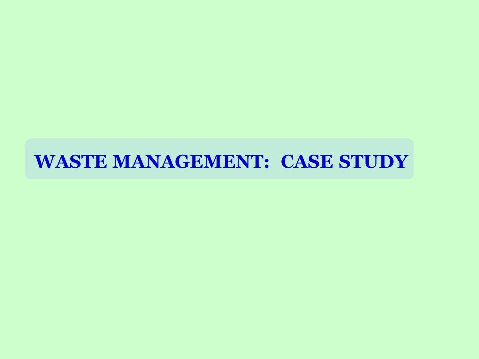 WASTE MANAGEMENT: CASE STUDY