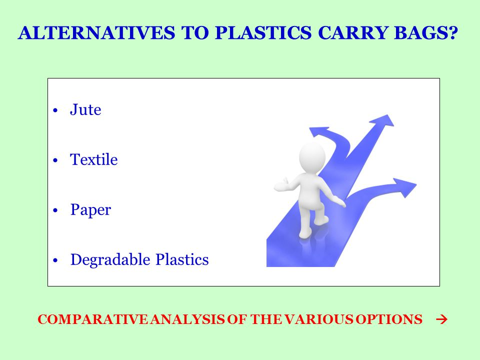 PLASTIC & PAPER CARRY BAGS Plastics and Paper both can be recycled.