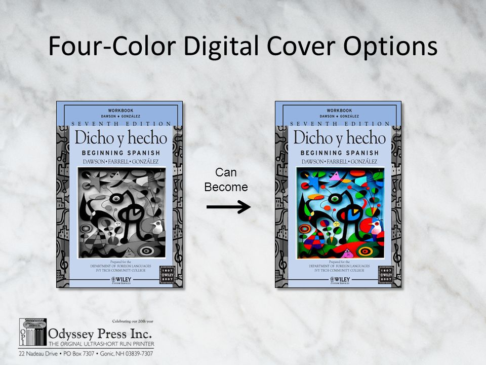 Four-Color Digital Cover Options Can Become