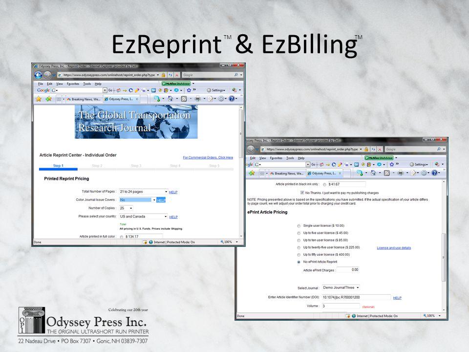 EzReprint & EzBilling TM
