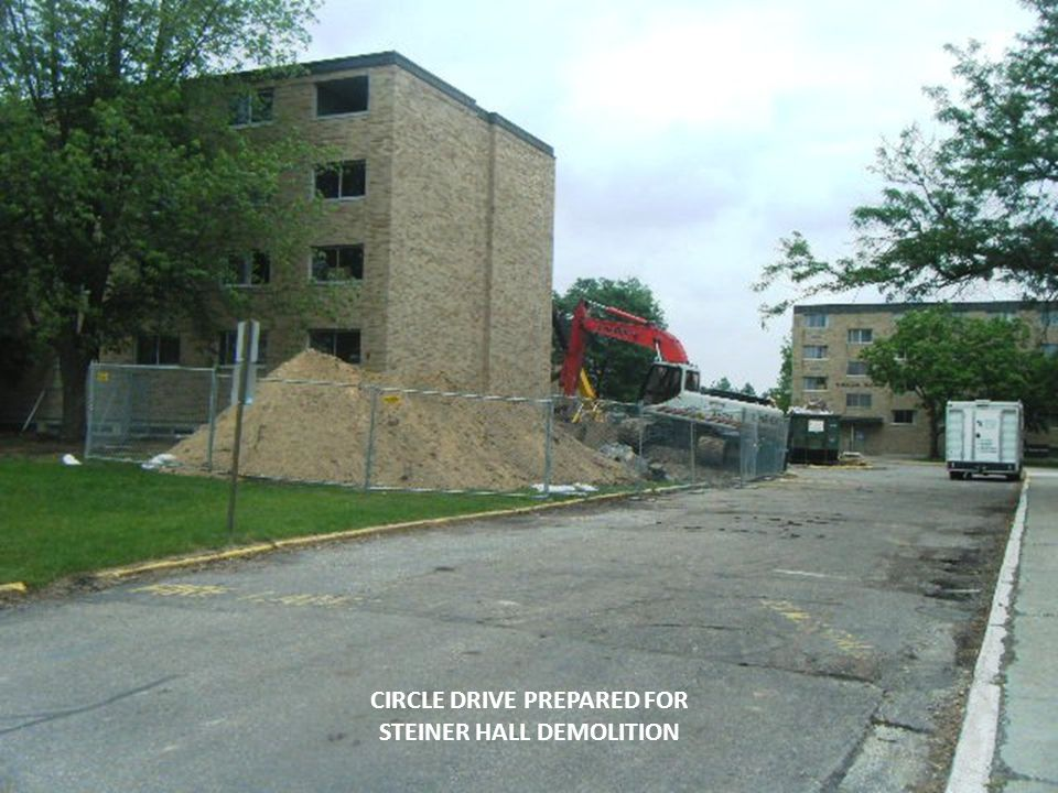 CIRCLE DRIVE PREPARED FOR STEINER HALL DEMOLITION