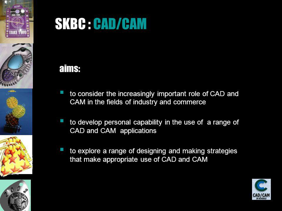 CAD or computer aided design is the process of creating industrial product designs using computer software CAM or computer aided manufacturing uses computers to programme these designs into equipment that will actually manufacture the products.