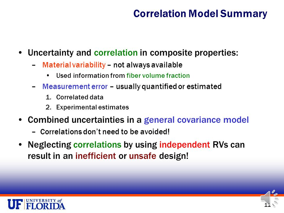 10 Monte Carlo simulations (10 5 ) with correlated and independent properties Ignoring correlations can cause unsafe or inefficient designs.