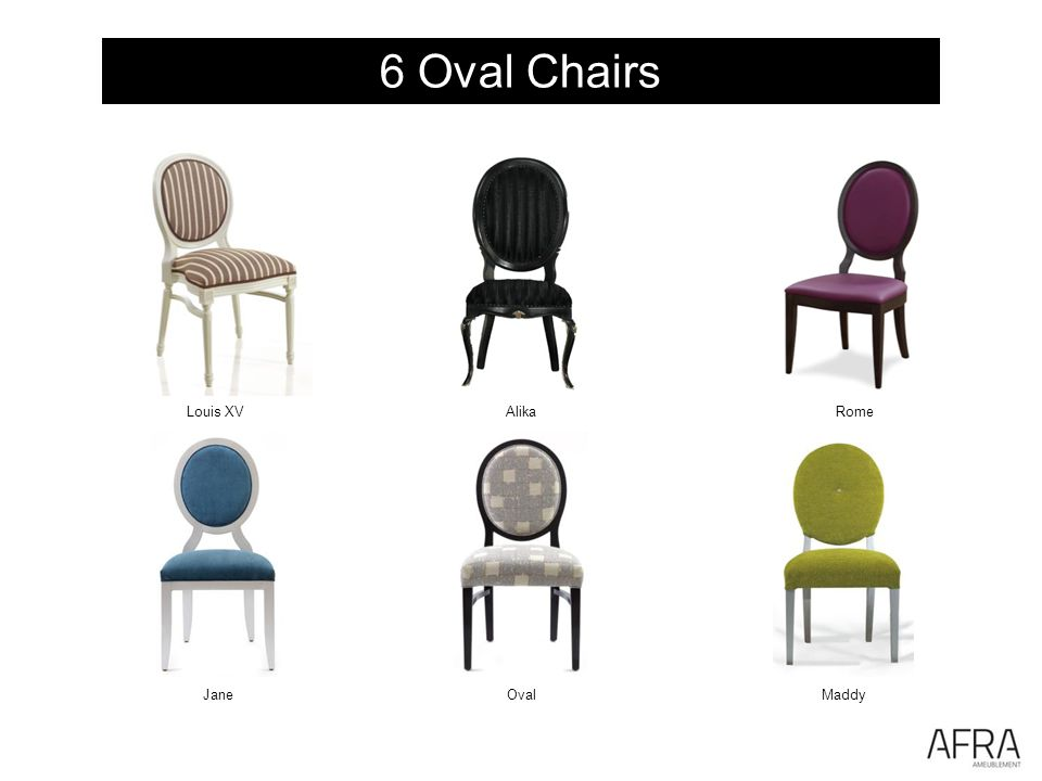 6 Oval Chairs JaneOval Rome Maddy Louis XVAlika