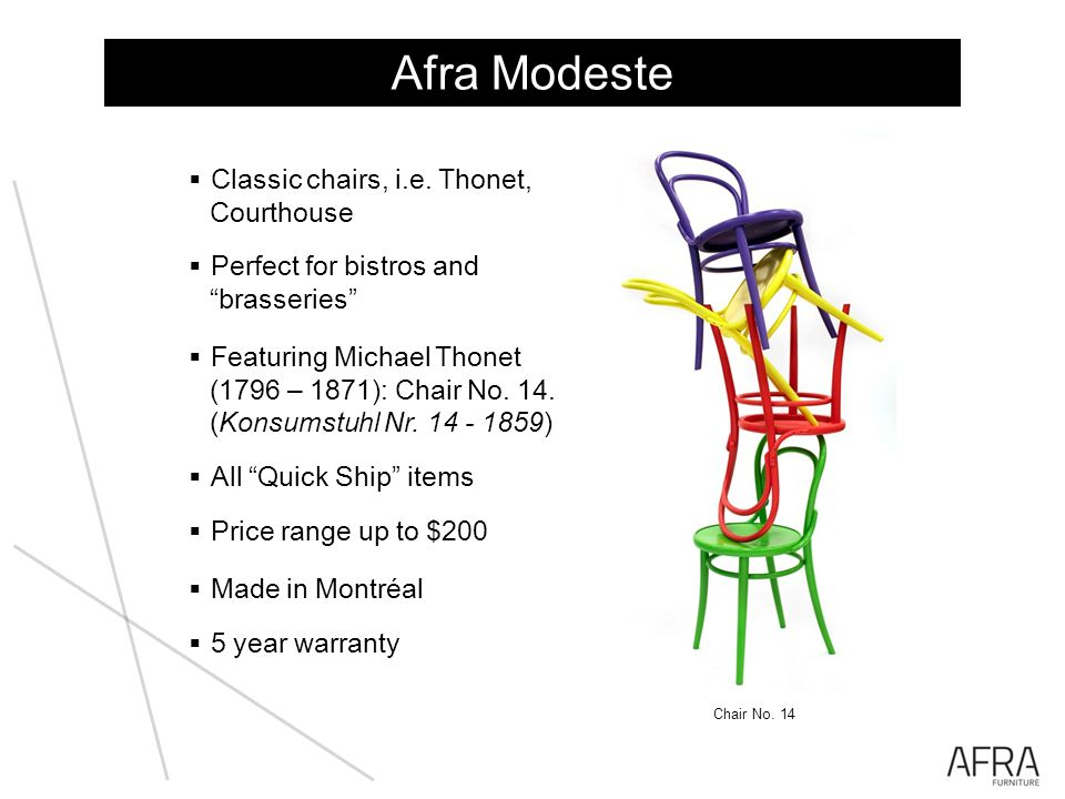 Afra Modeste Classic chairs, i.e. Thonet, Courthouse Perfect for bistros and brasseries Featuring Michael Thonet (1796 – 1871): Chair No. 14. (Konsums