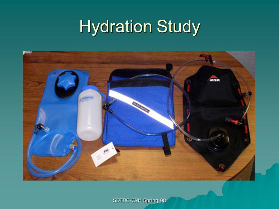 SDTDC-CNH Spring 08 Hydration Study